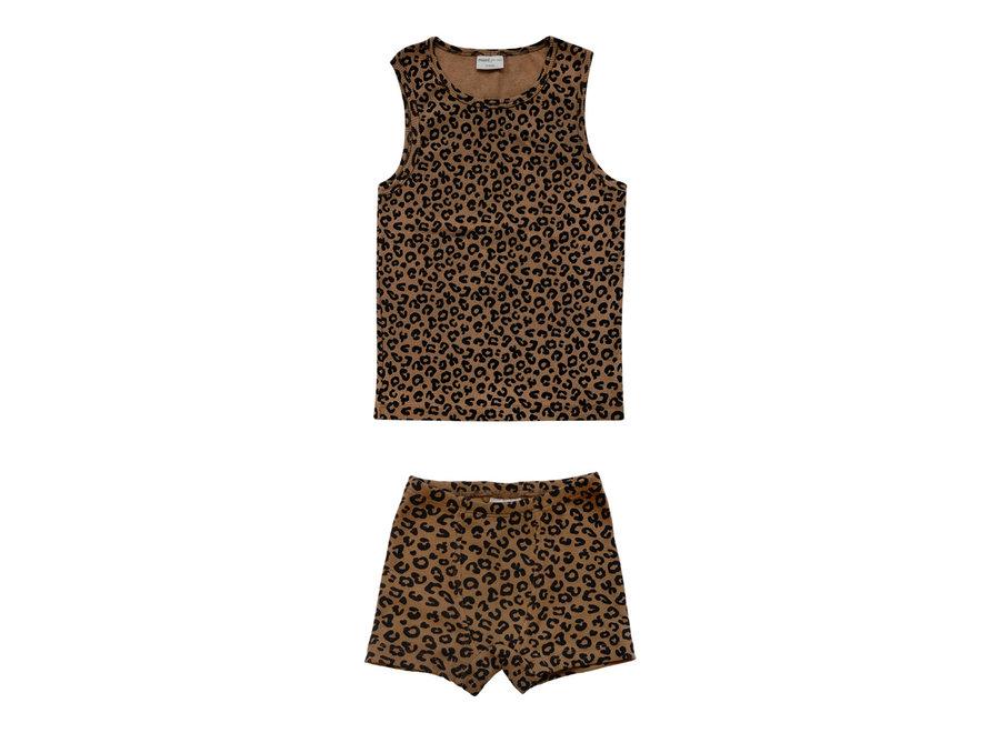 Chocolate leopard boxer set