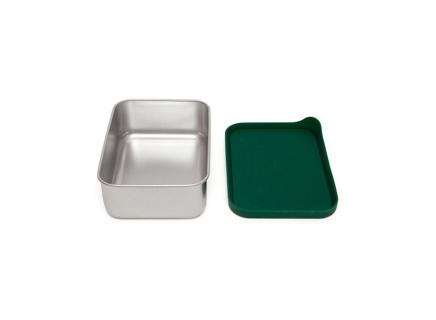 Stainless steel lunchbox Riley pine green