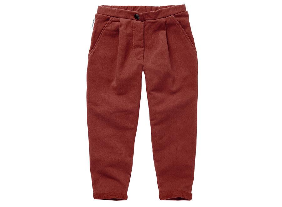 Cropped Chino Brick Red