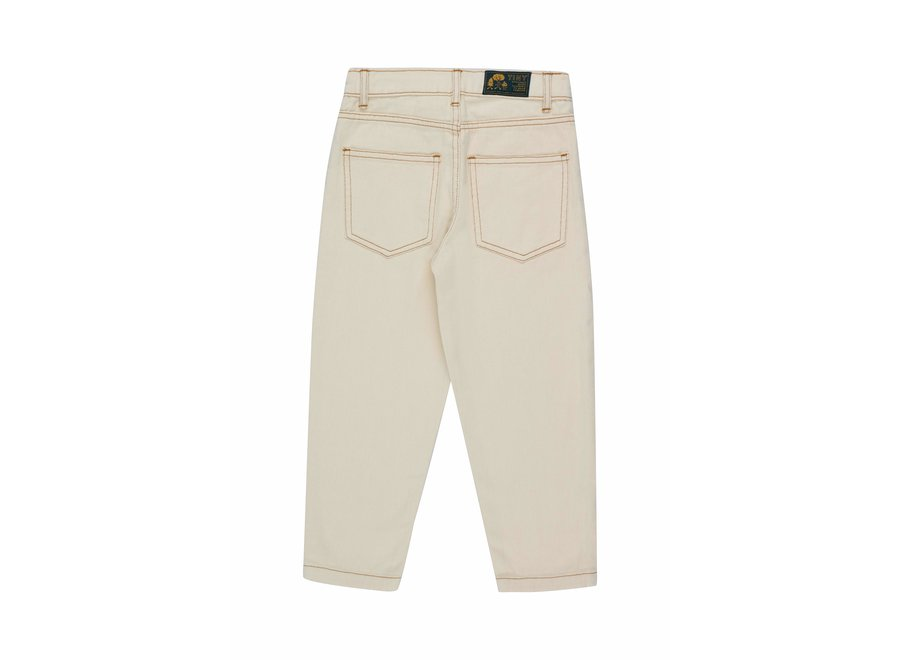 Solid baggy pant light cream KID