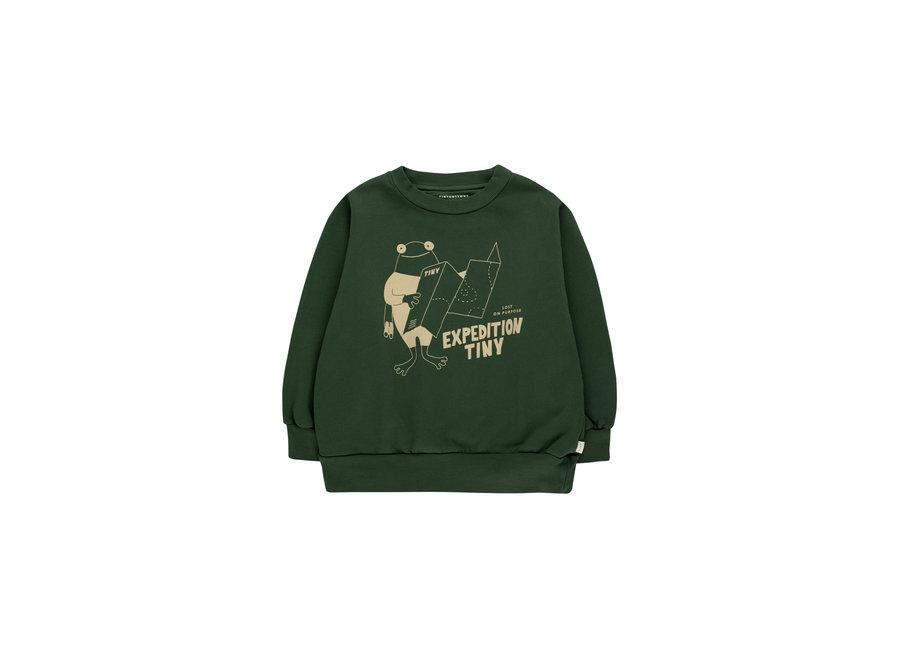 Expedition Tiny sweatshirt dark green KID