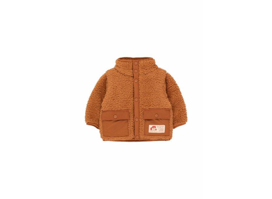Baby polar sherpa jacket toffee