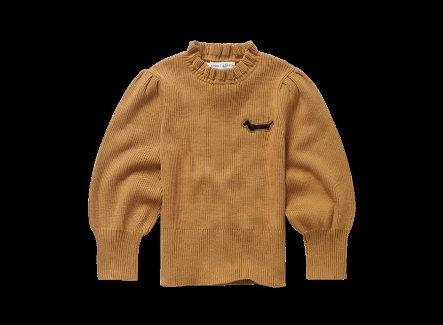 Sweater Turtleneck Ruffle