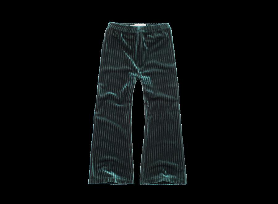 Pants Velvet Pleats green