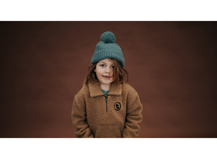 Teddy Sweatshirt Zip Mock
