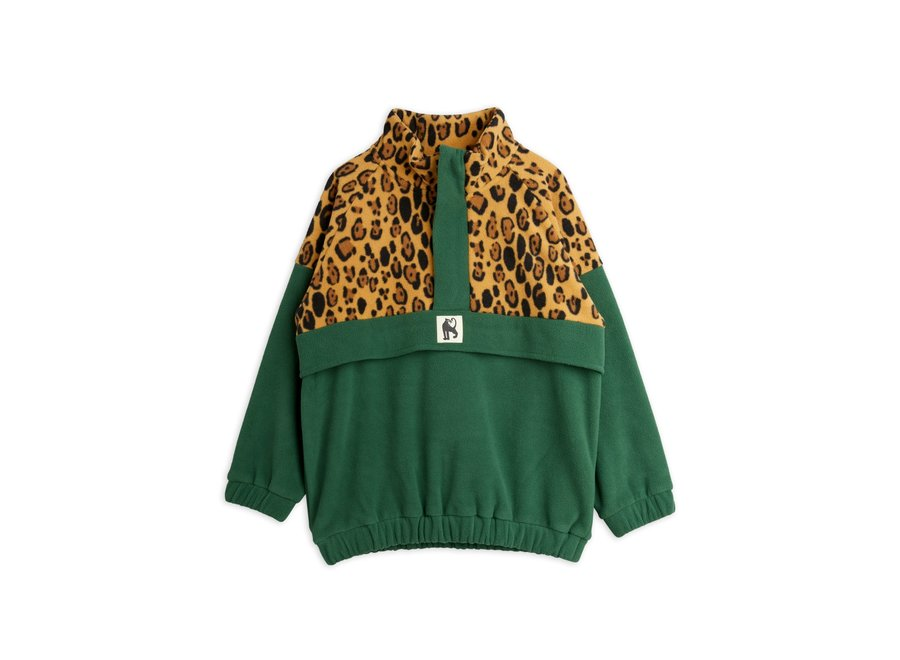 Fleece zip pullover green