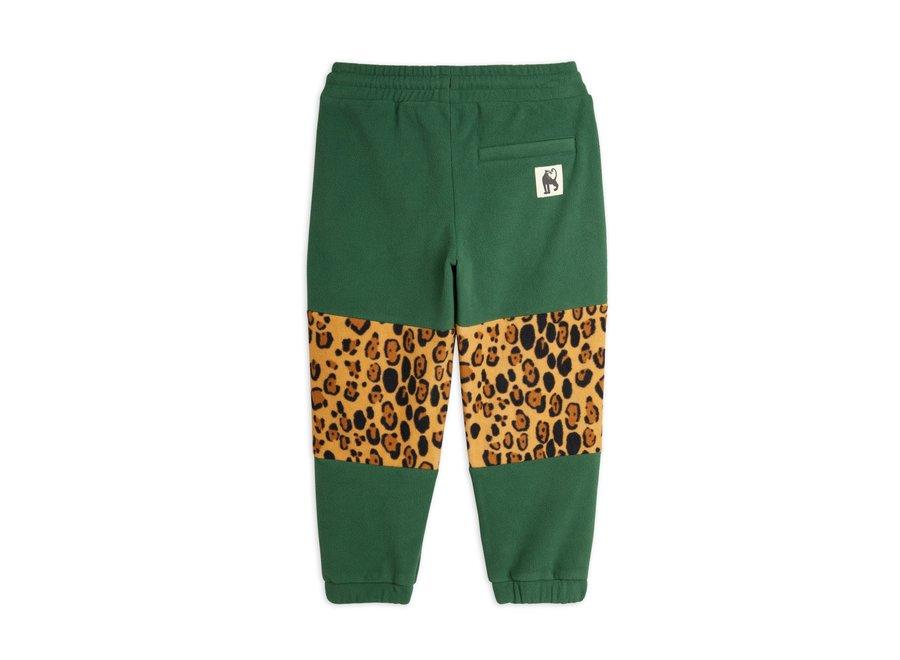 Fleece panel trousers green