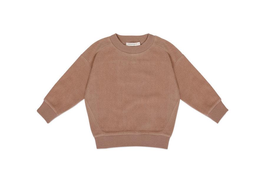 Oversized teddy sweater creamy mocha