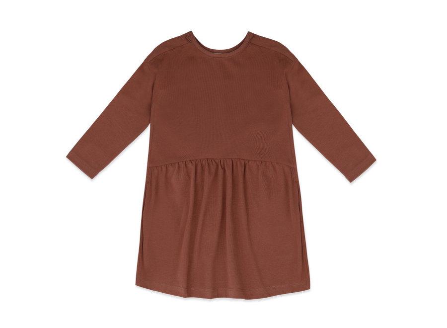 Two-way dress l/s chocolate mauve