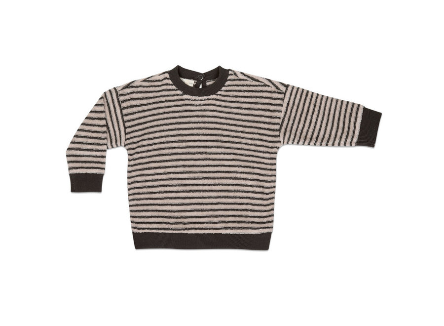 Baby sweater loopy stripes Graphite