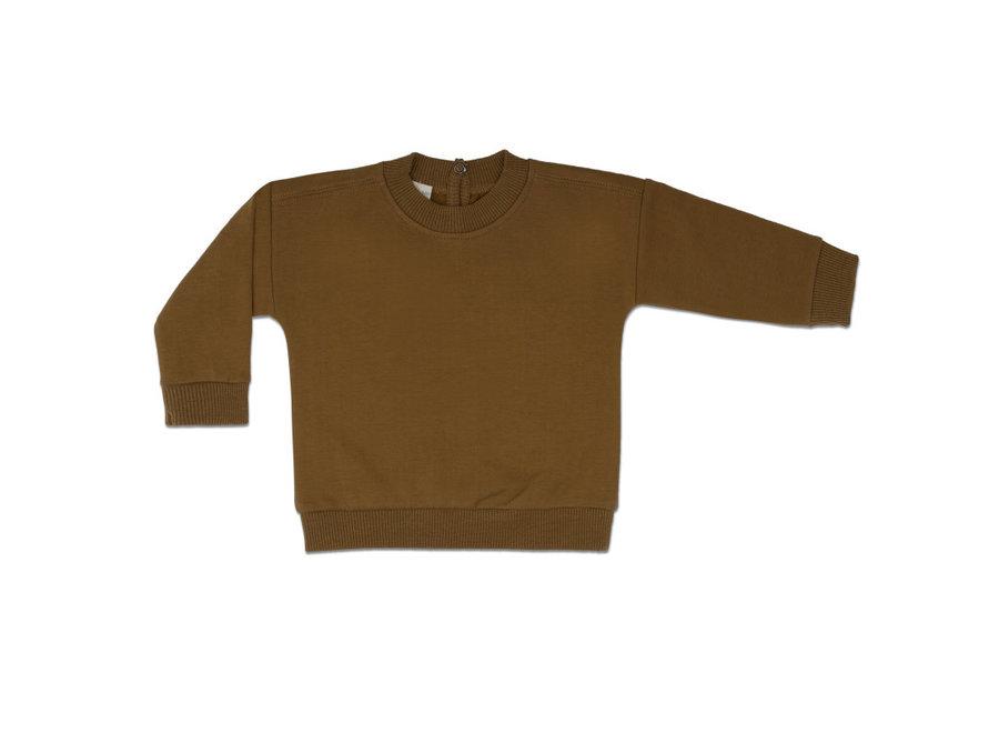 Baby sweater bronze olive