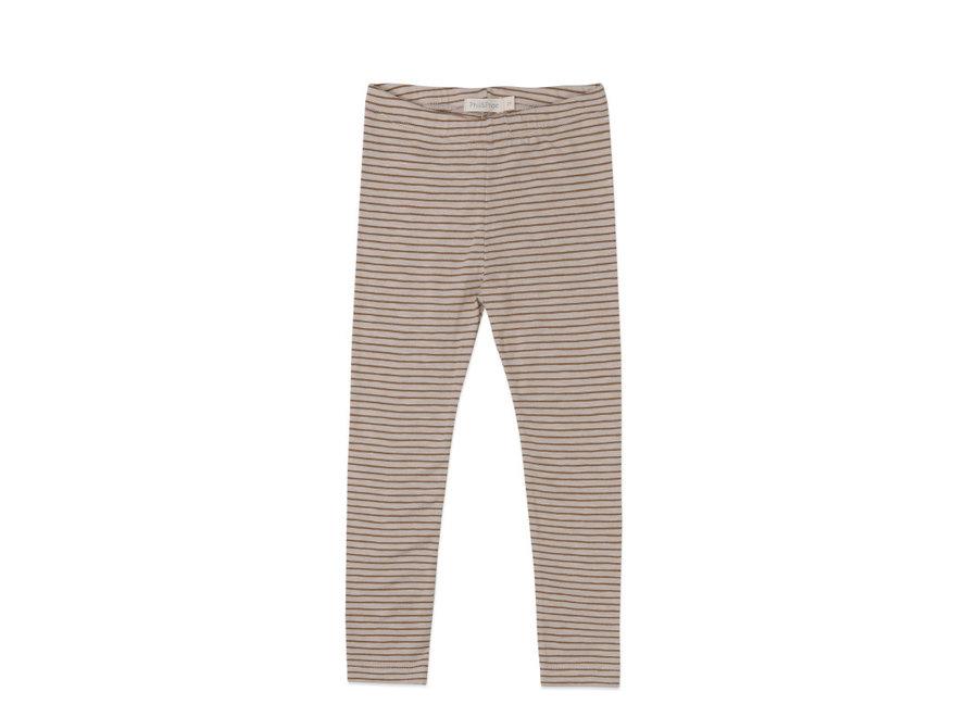 Leggings stripes Chestnut