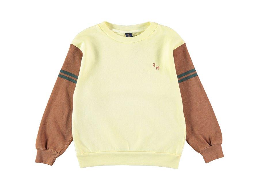 Sweatshirt bm sleeves color Melow yellow