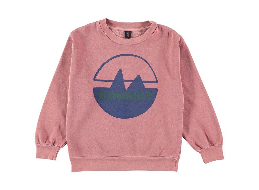 Sweatshirt bonmot mountain Rust