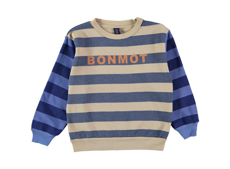 Sweatshirt wide stripes Fog