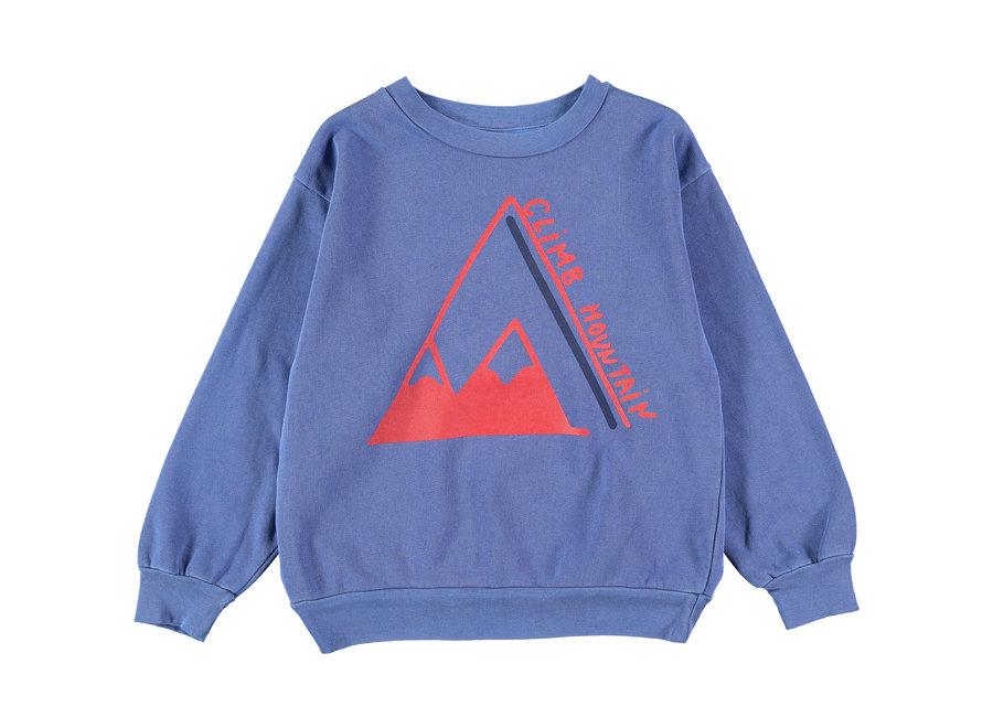 Sweatshirt climb Sea Blue