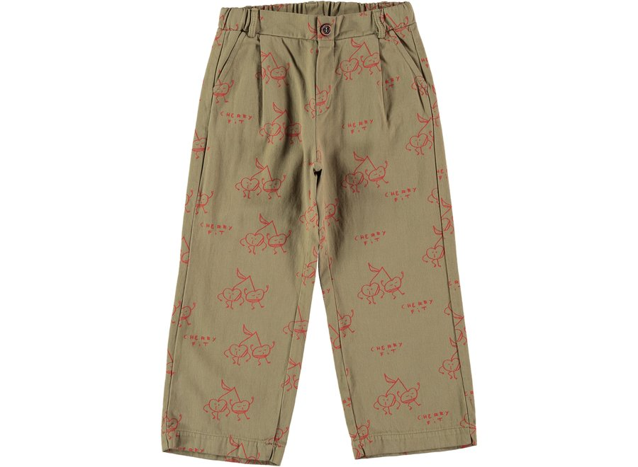 Trousers fit cherry Taupe