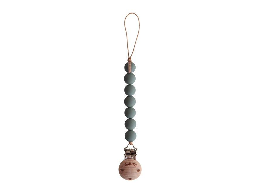 Mushie pacifier clip Halo Dried Thyme