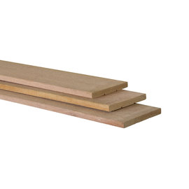 Hardhout plank geschaafd