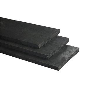 Vuren, Celfix (verduurzaamd) plank, rustiek zwart, fijnbezaagd