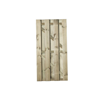 Naaldhout, Celfix (verduurzaamd) Hasselt deur recht/verticaal bevestigd, geschaafd