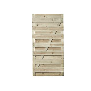Naaldhout, Celfix (verduurzaamd) Hasselt deur recht/horizontaal bevestigd, geschaafd