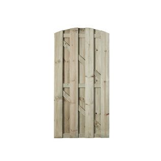 Naaldhout, Celfix (verduurzaamd) Leuven deur toog, verticaal bevestigd, geschaafd