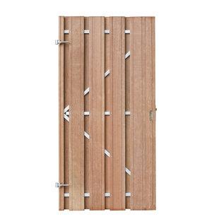 Hardhout, Paulo deur met stalen frame, geschaafd