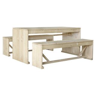 Steigenhouten tafel met banken Viking