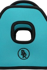 BR BR Stijgbeugelhoesjes neopreen Turquoise 12cm