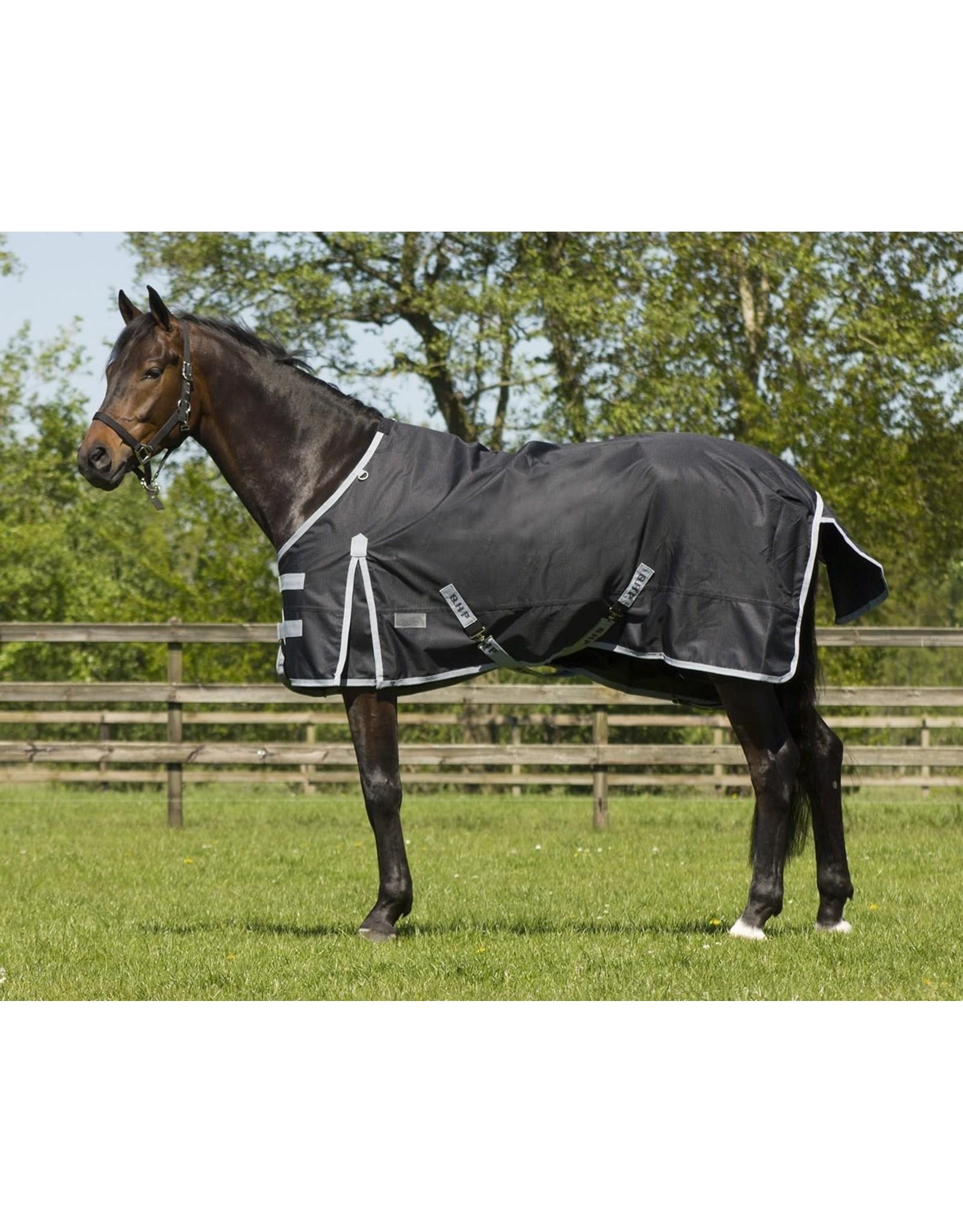QHP QHP regendeken met fleece zwart