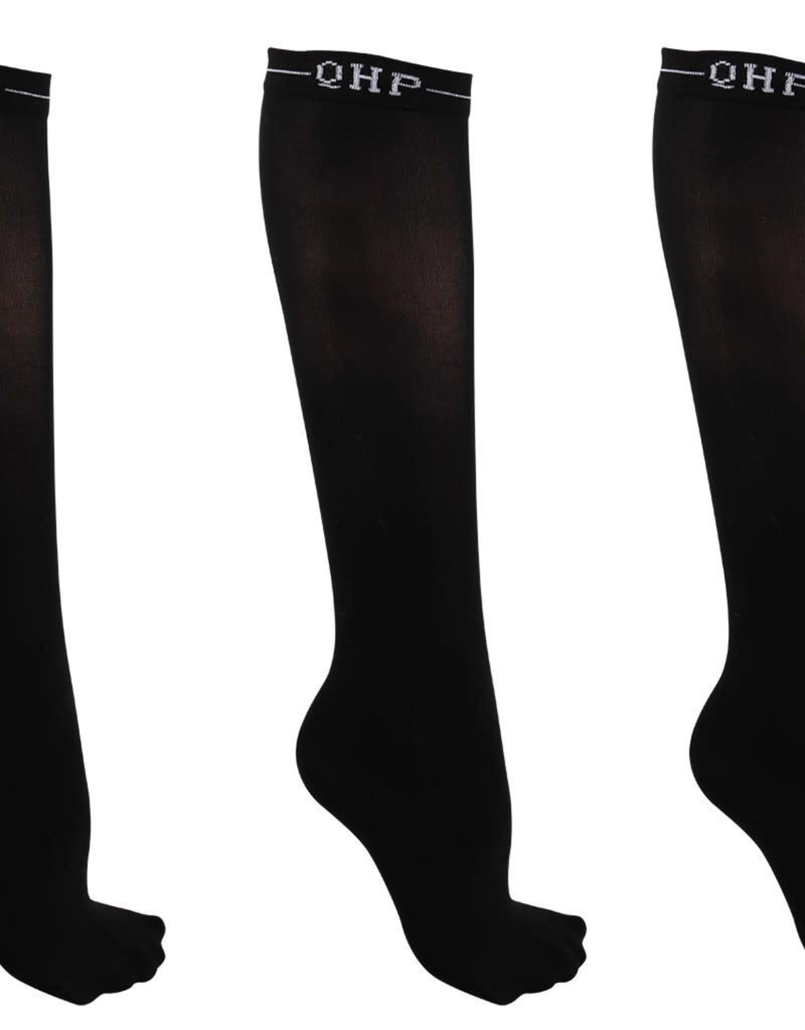 QHP QHP Showsok color (3stuks) zwart