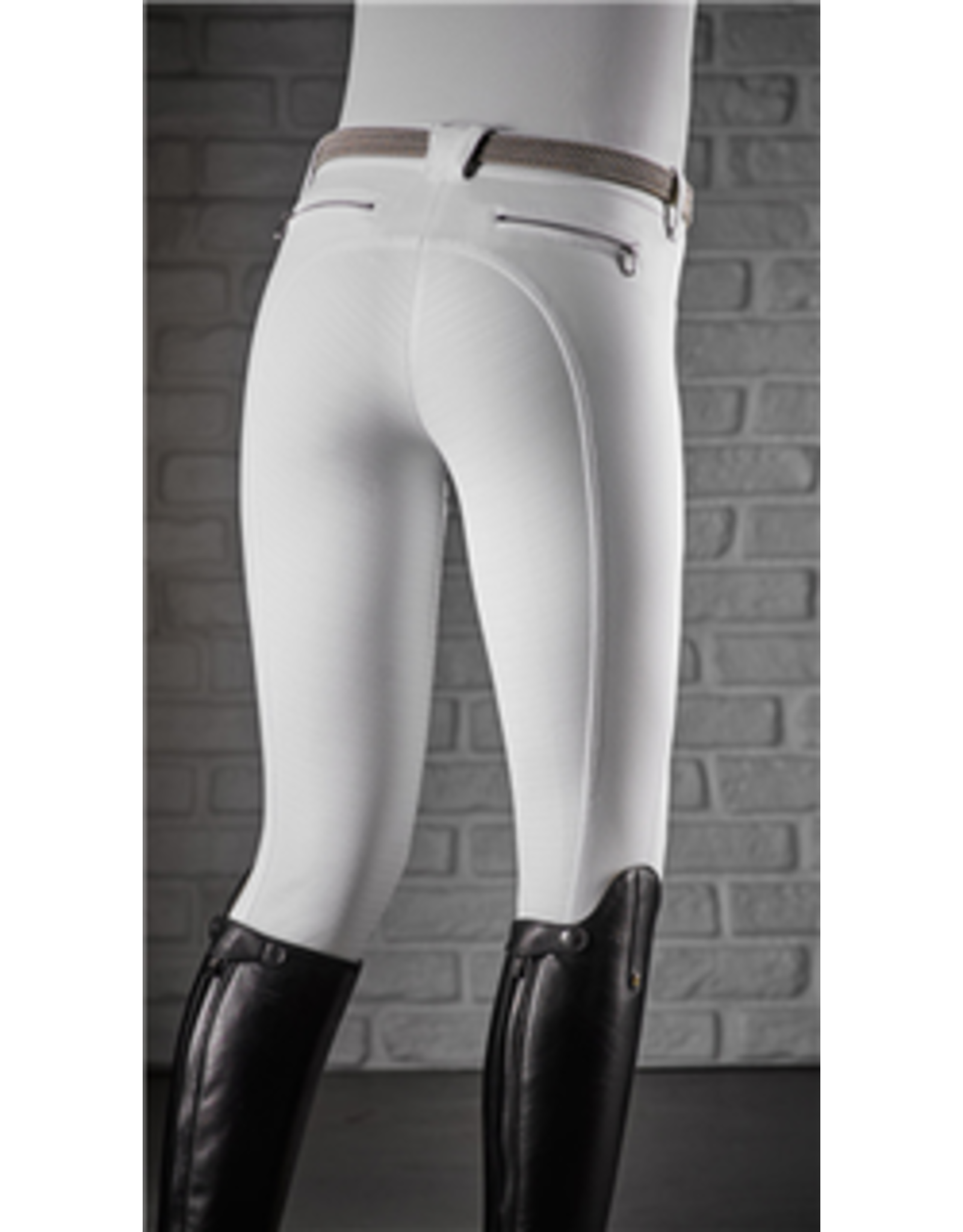 Equiline rijbroeken full grip Donna wit