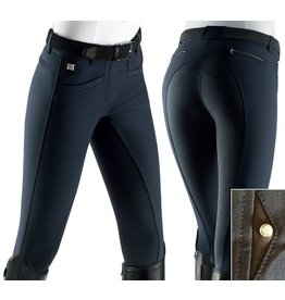 Equiline rijbroeken full grip Donna Navy