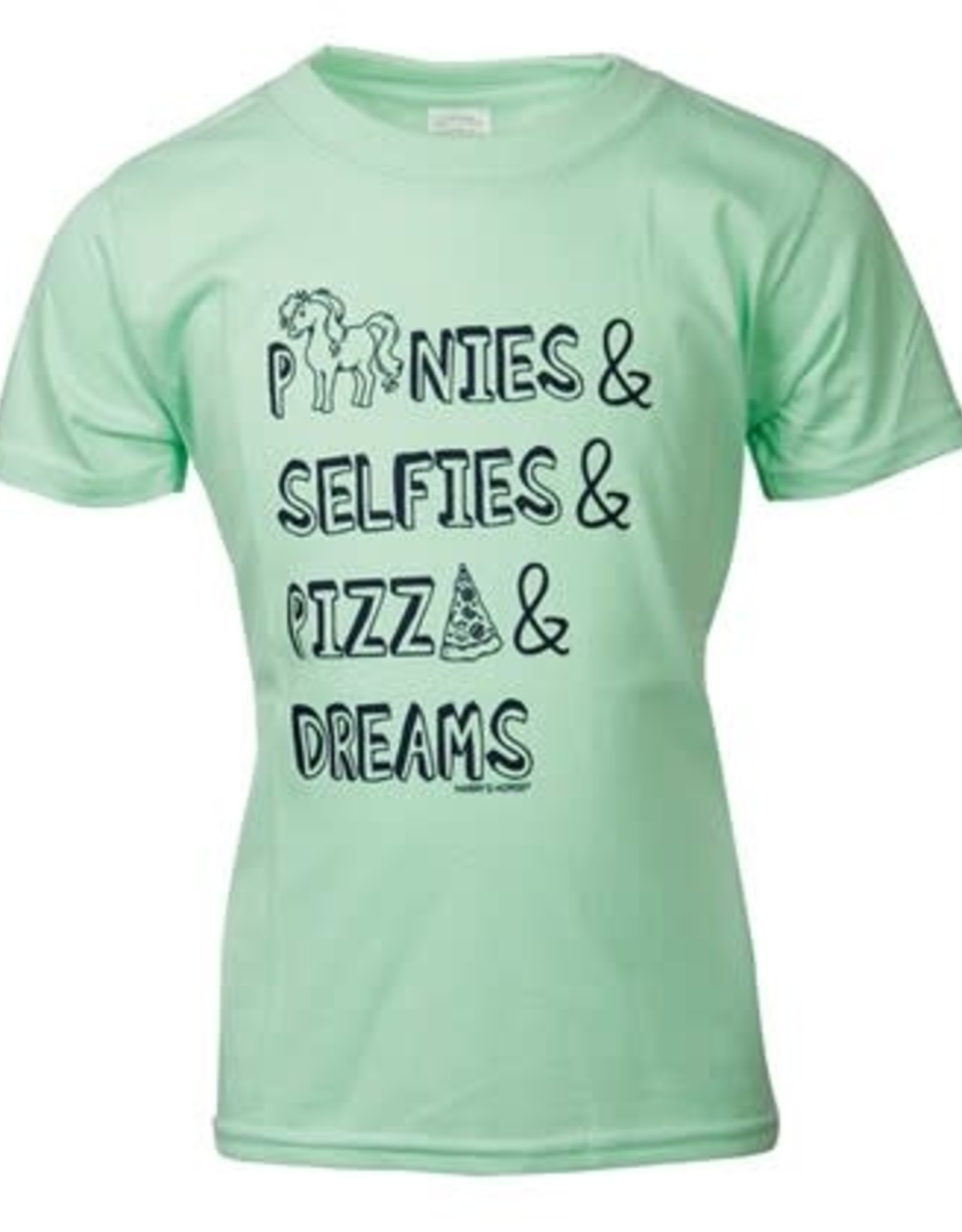 Harry's Horse HH T-Shirt Quote Kids Groen