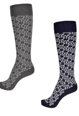 pikeur Pikeur Sokken Logo All Over Zwart 38-40