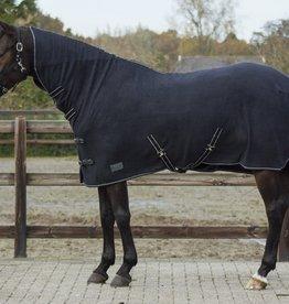 QHP QHP Basic fleecedeken met hals zwart