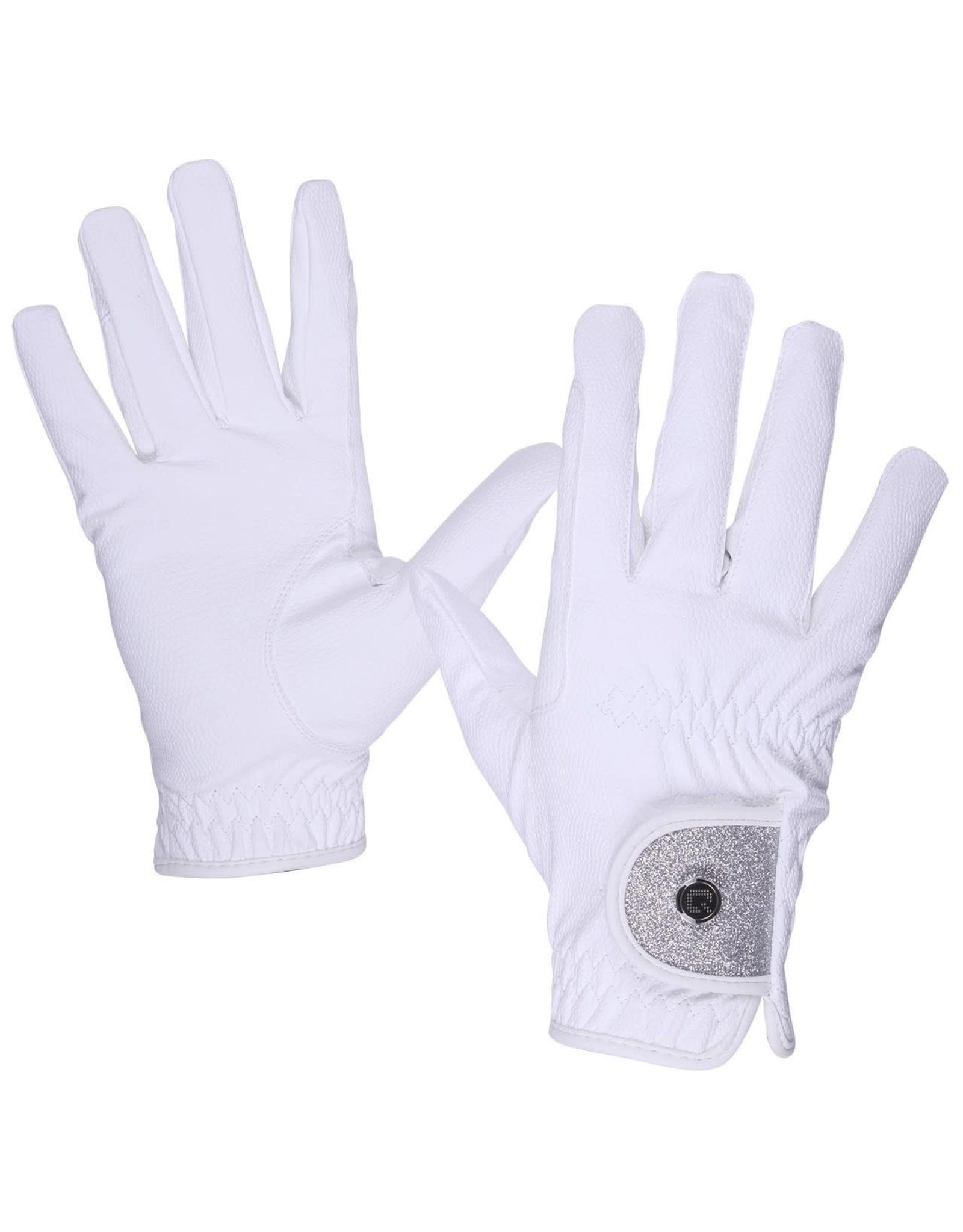 QHP QHP handschoenen glitz Wit
