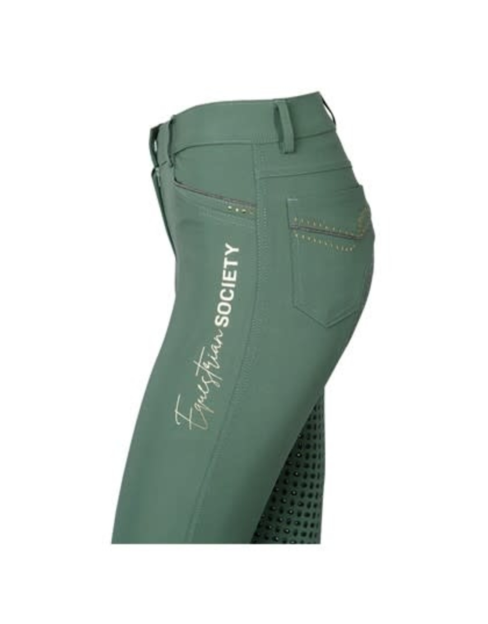 Harry's Horse HH Rijbroek Caledon Full Grip Dark Green