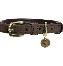 Kentucky Kentucky Hondenhalsband Velvet Leather Bruin