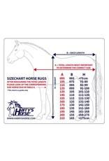 Harry's Horse HH Fleecedeken met oprolbare nek Dress Blues