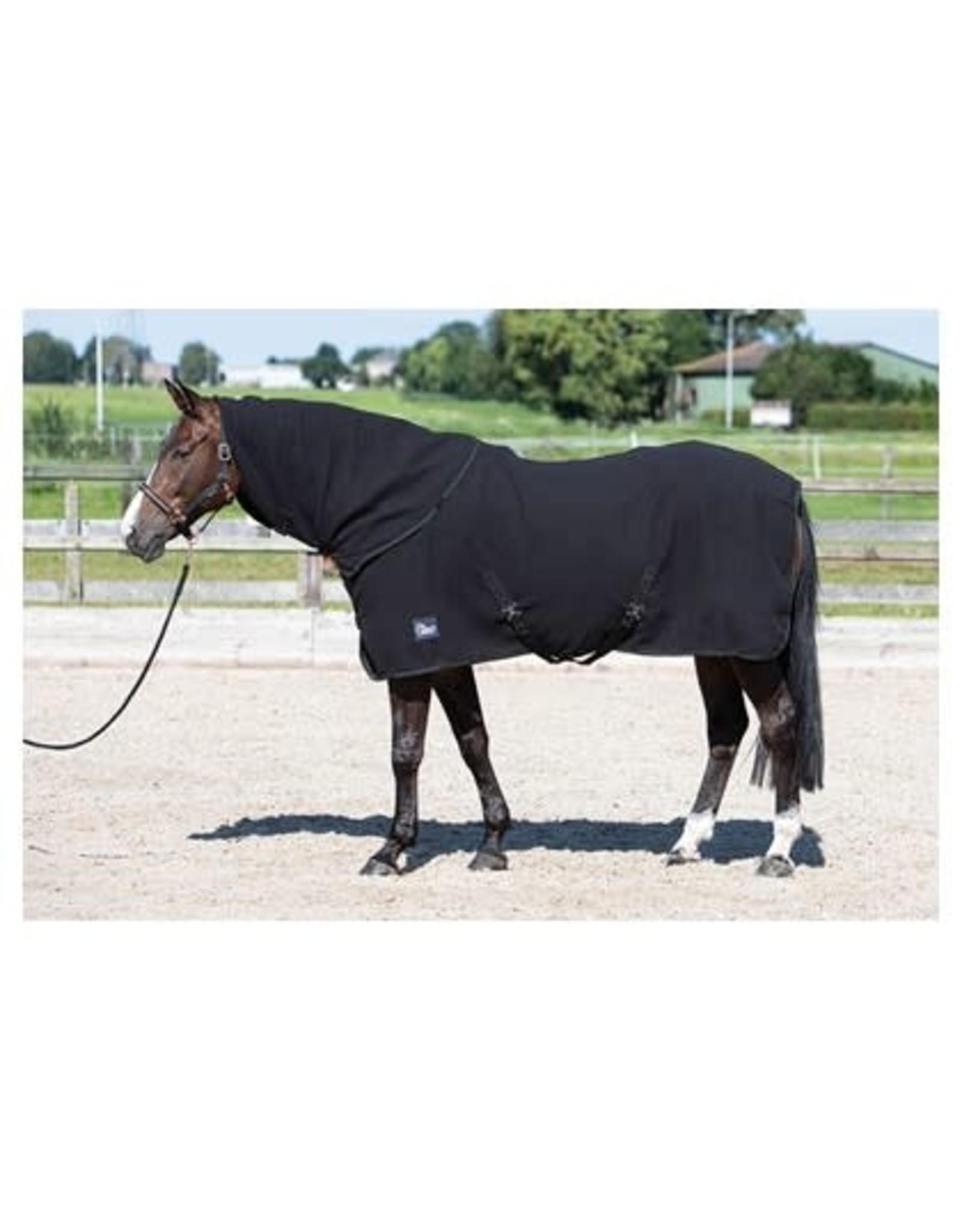 Harry's Horse HH Fleecedeken met oprolbare nek Jet Black