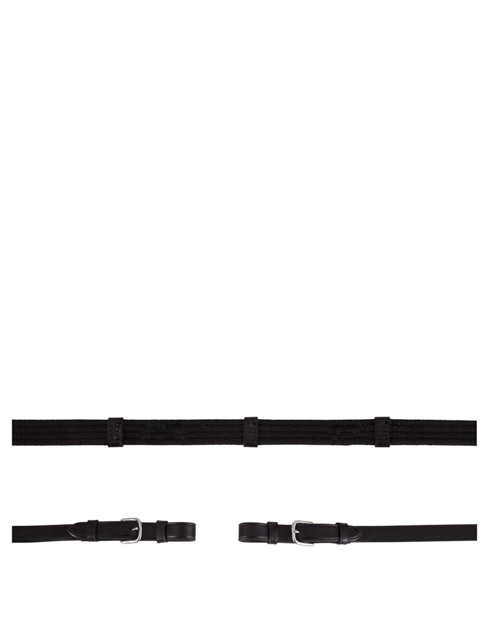 BR BR linnen teugels Zwart/Zilver