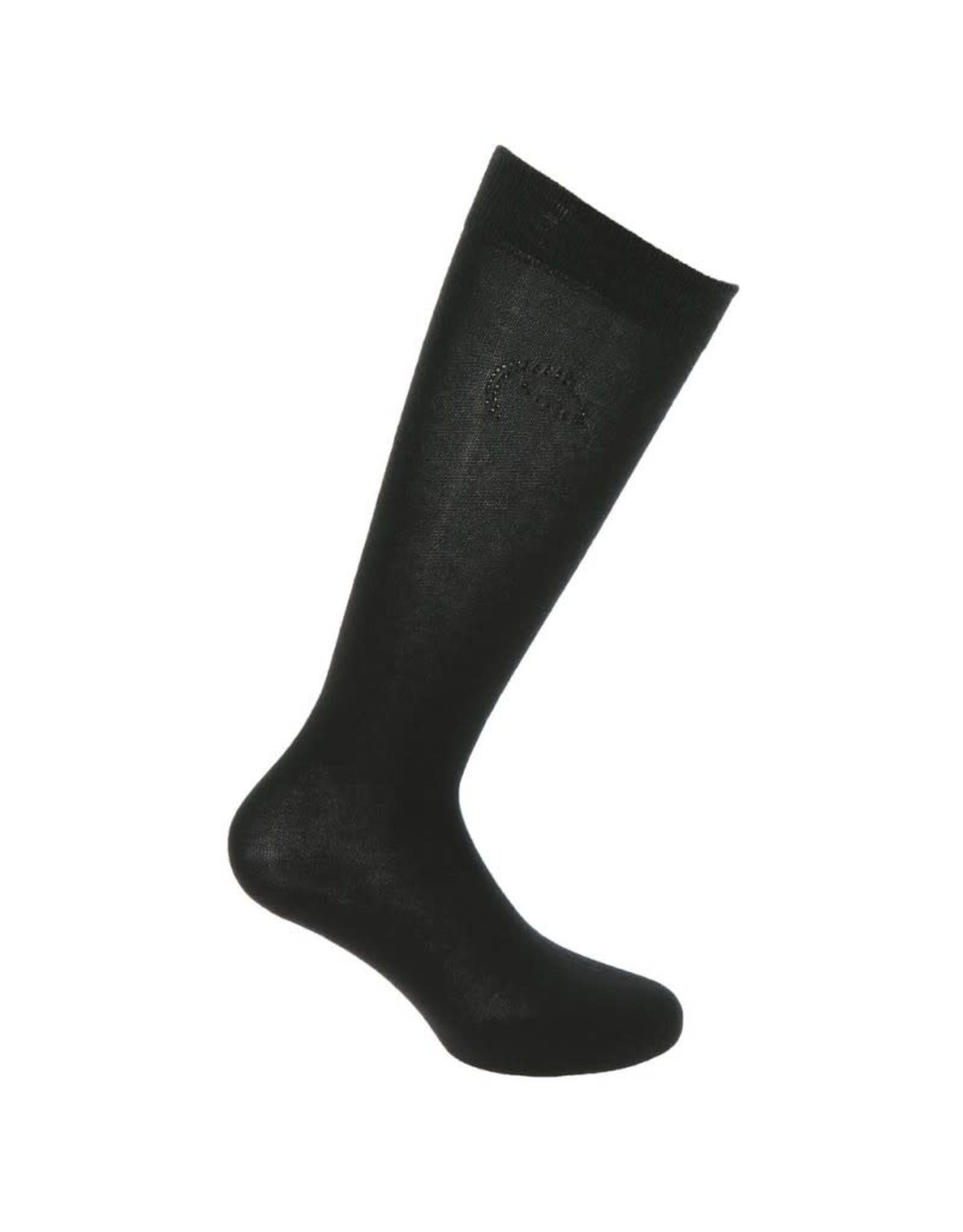 Equithème Equitheme Logo Sokken Zwart