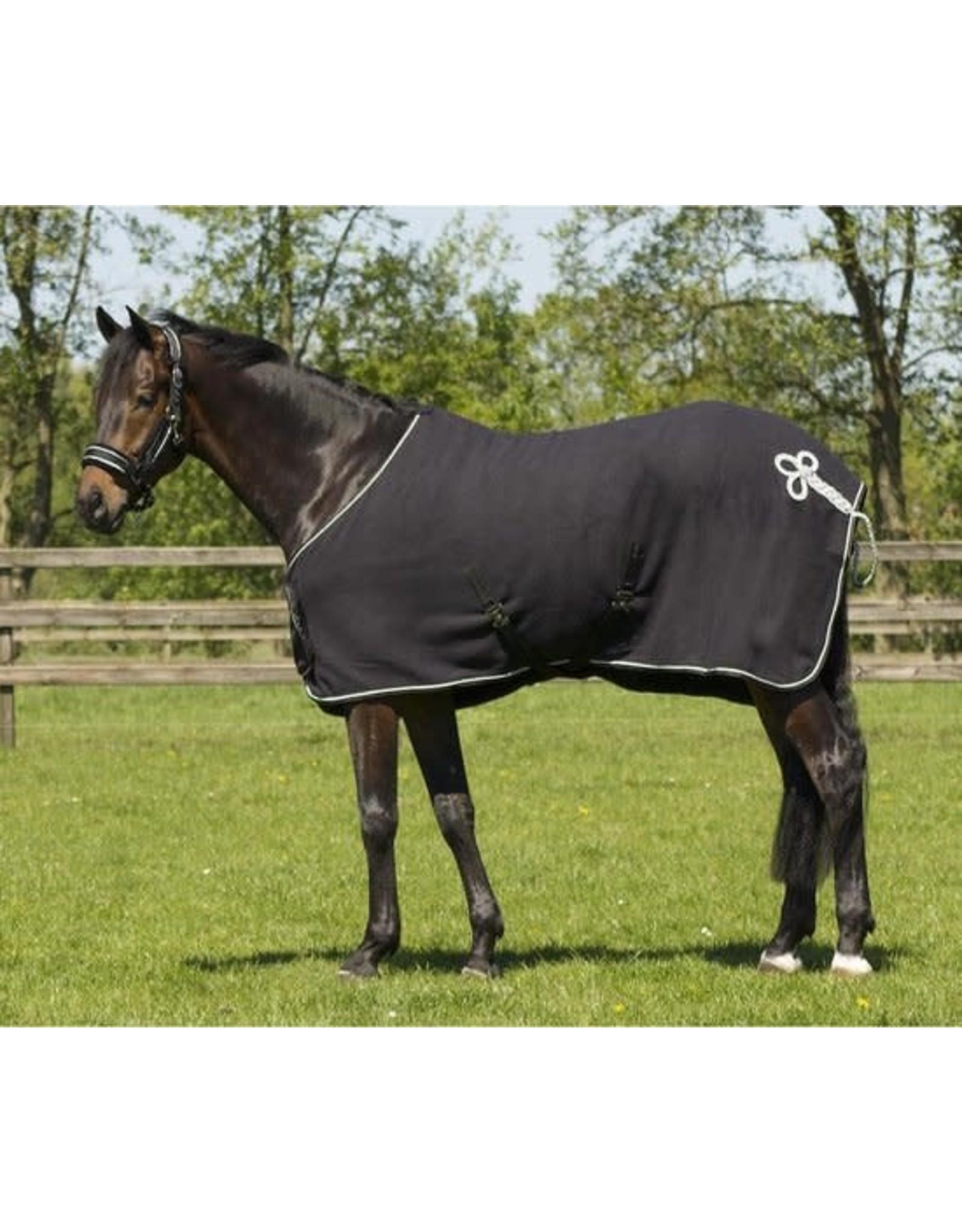 QHP QHP deken fleece ornament zwart