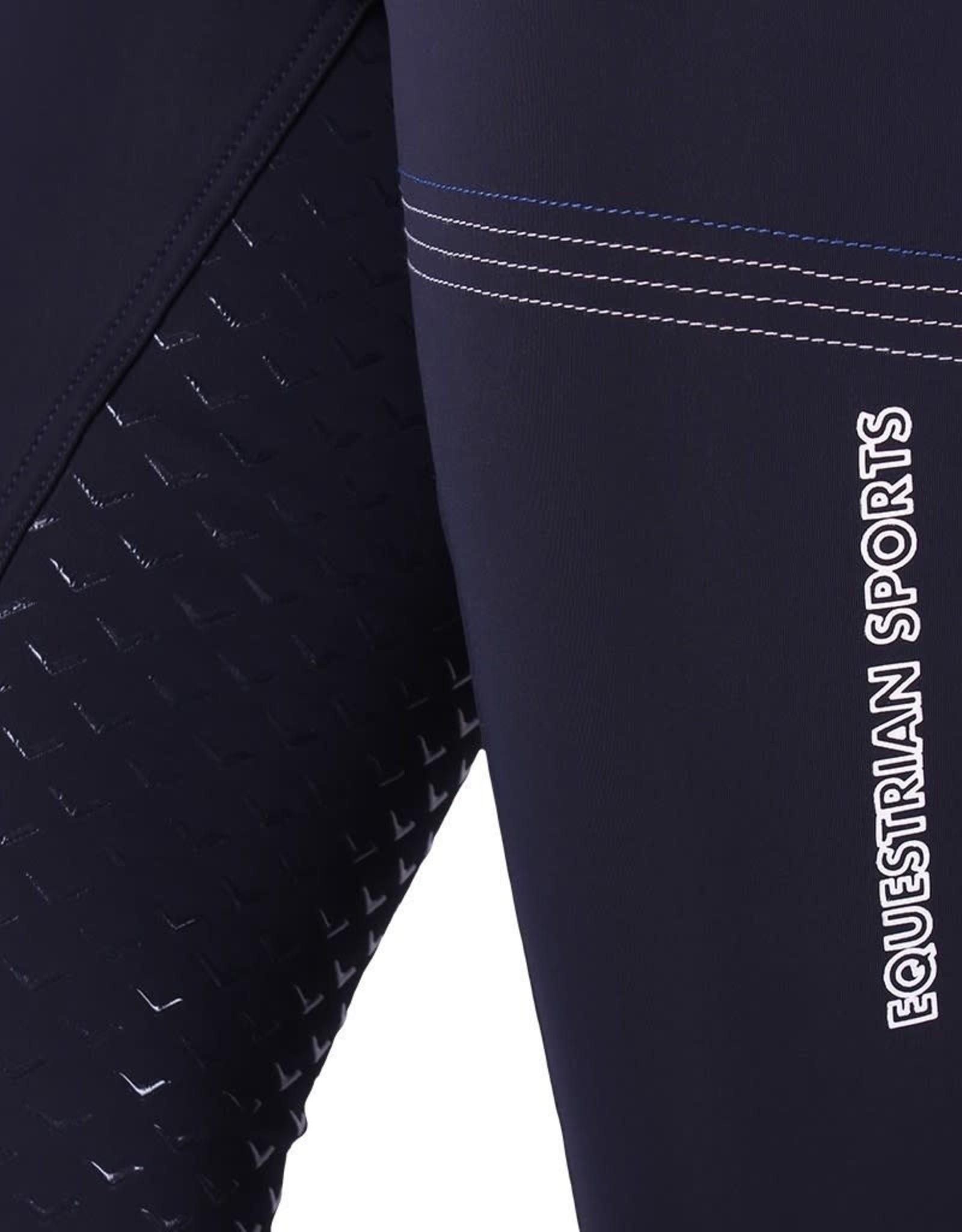 QHP QHP rijbroek softshell emma anti-slip zitvlak navy