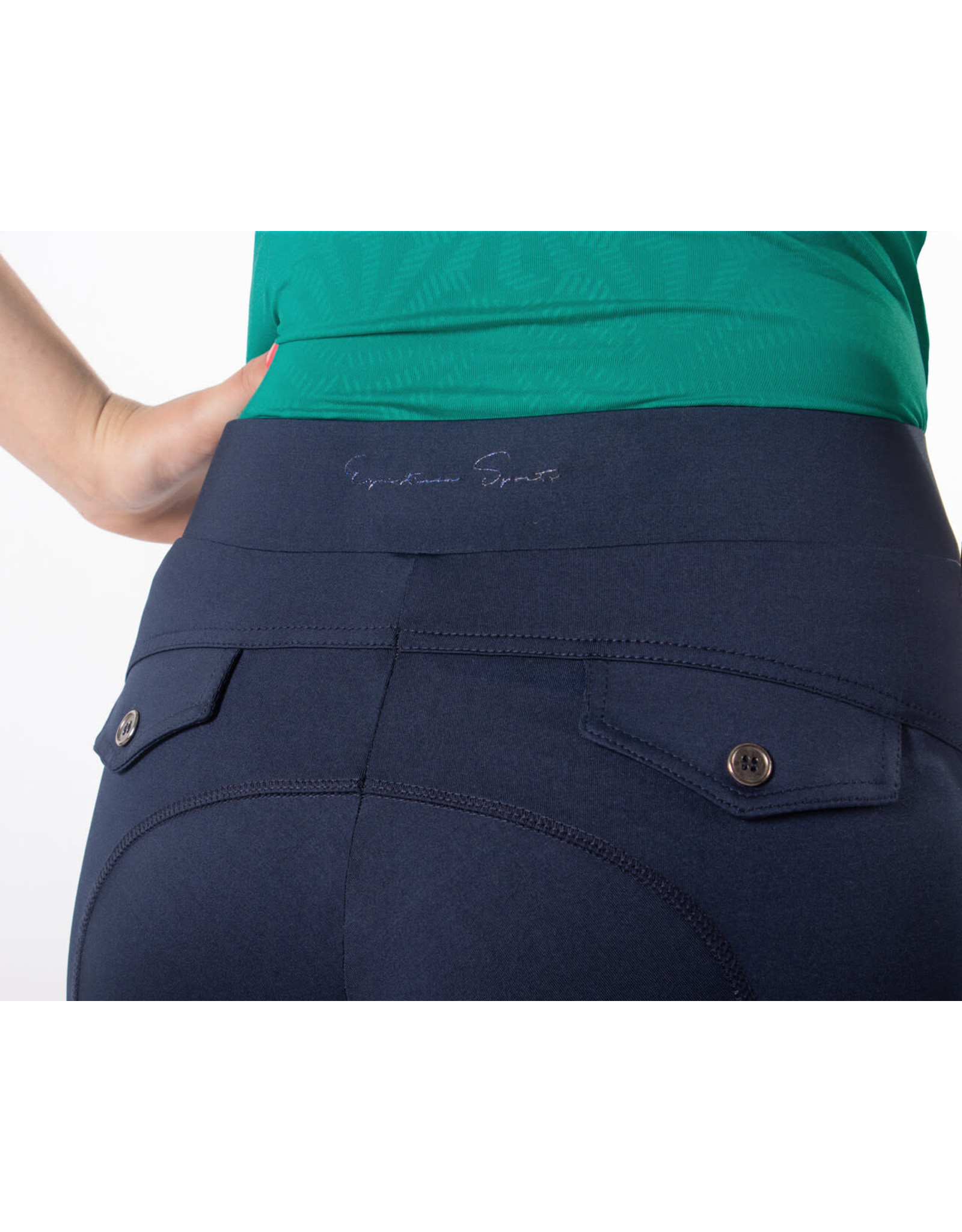 QHP QHP Rijbroek pull-on Phylicia been grip Navy