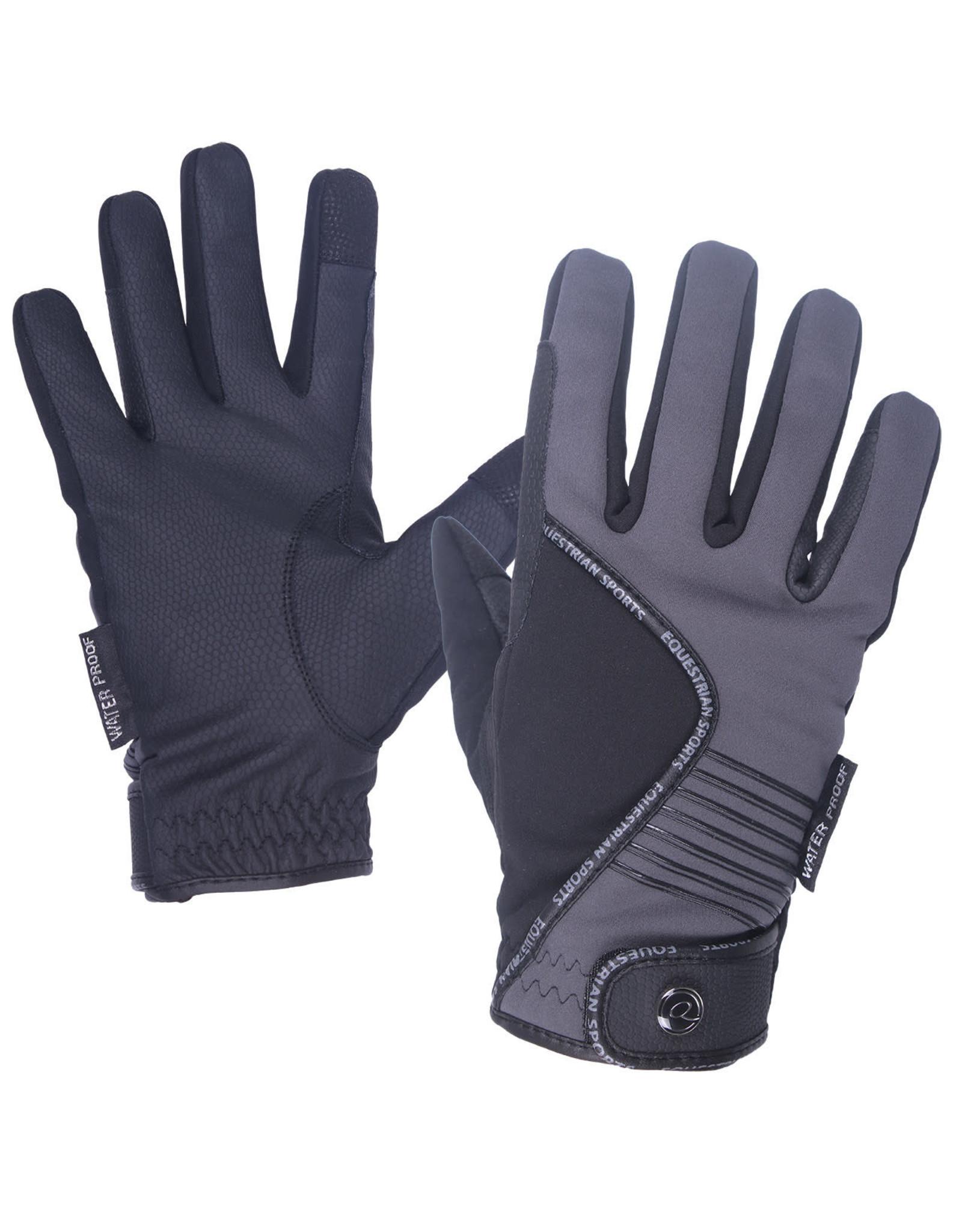 QHP QHP Handschoen Tromso Waterproof Zwart/grijs