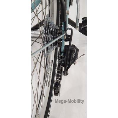 Tri-bike Tweewieltandem met achteraan besturing