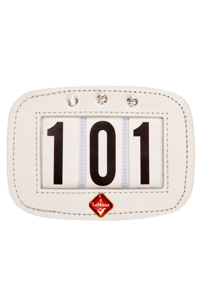 Diamante Saddle Pad Number Holder